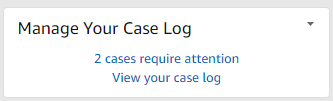Case log management widget in seller central