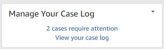 Case log management widget in seller central