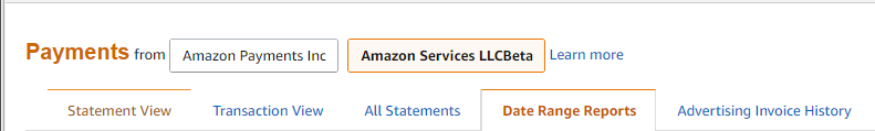 Date range reports for taxes on Amazon sellercentral