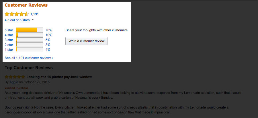 Customer reviews on competitor's products are so important