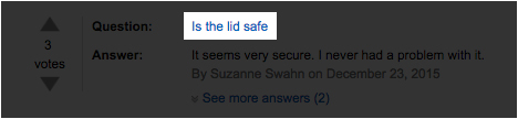 Customer questions regarding Amazon product safety